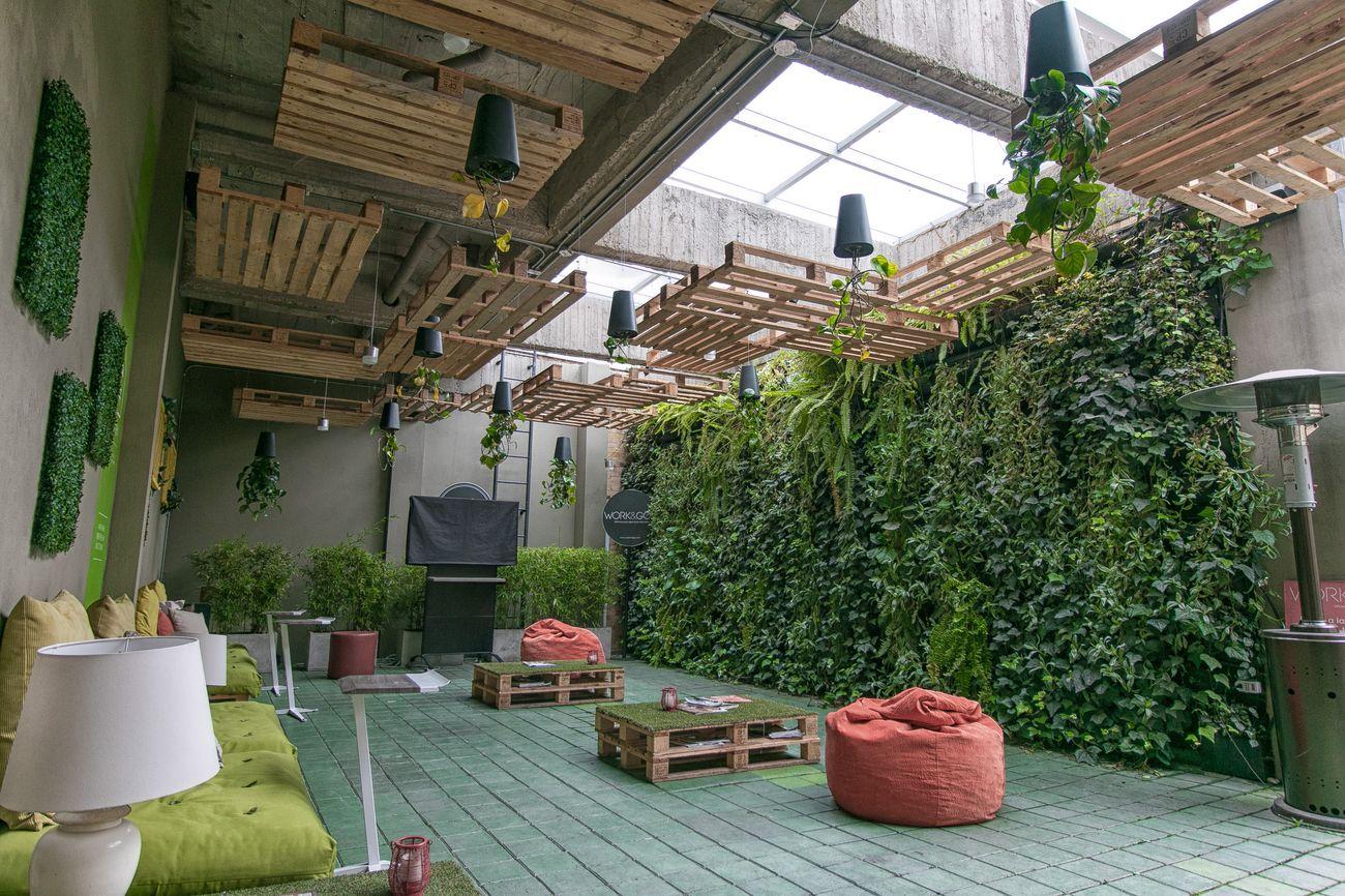 Como hacer un muro verde cool construccin de un muro - Como hacer un muro verde ...
