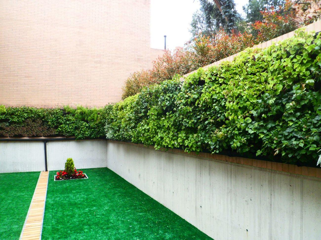 Muro verde artificial finest como un tipo de muro verde for Jardines verdes